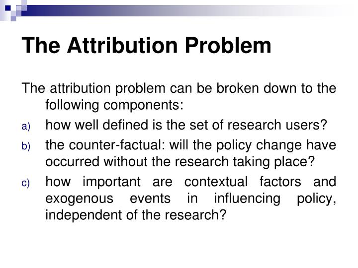 The Attribution Problem
