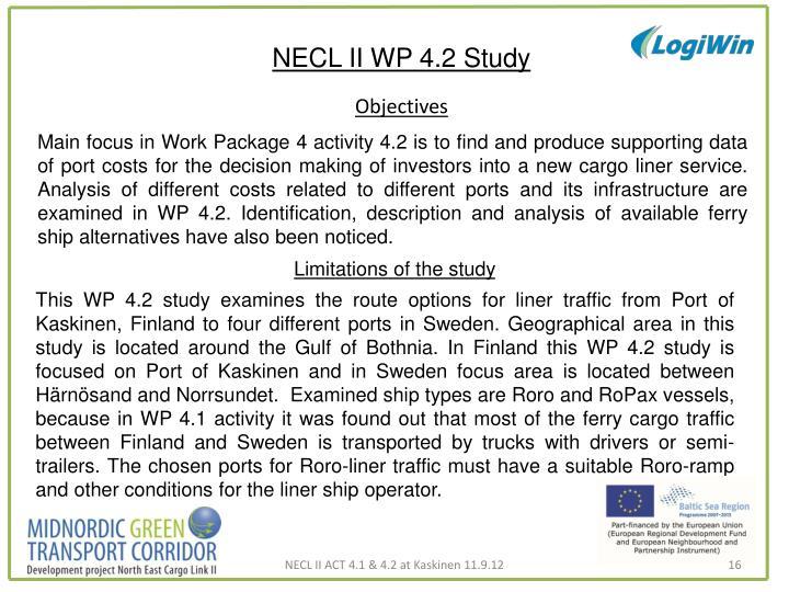 NECL II WP 4.2 Study