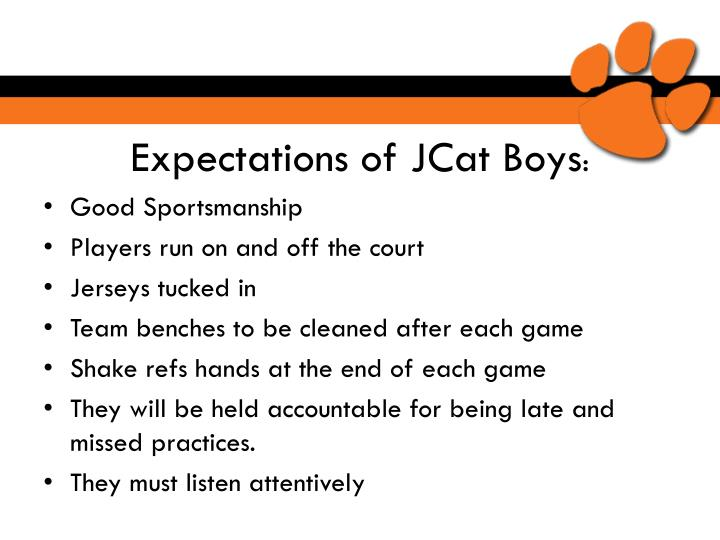 Expectations of JCat Boys