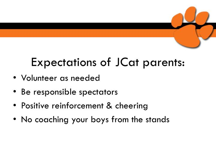 Expectations of JCat parents: