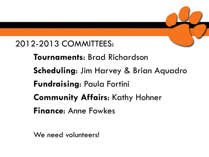 2012-2013 COMMITTEES: