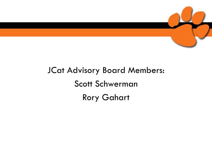JCat Advisory Board Members: