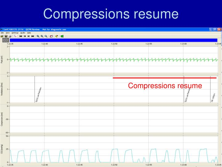 Compressions resume