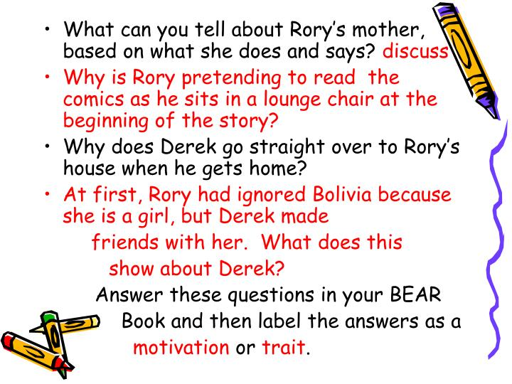 What can you tell about Rory's mother, based on what she does and says?