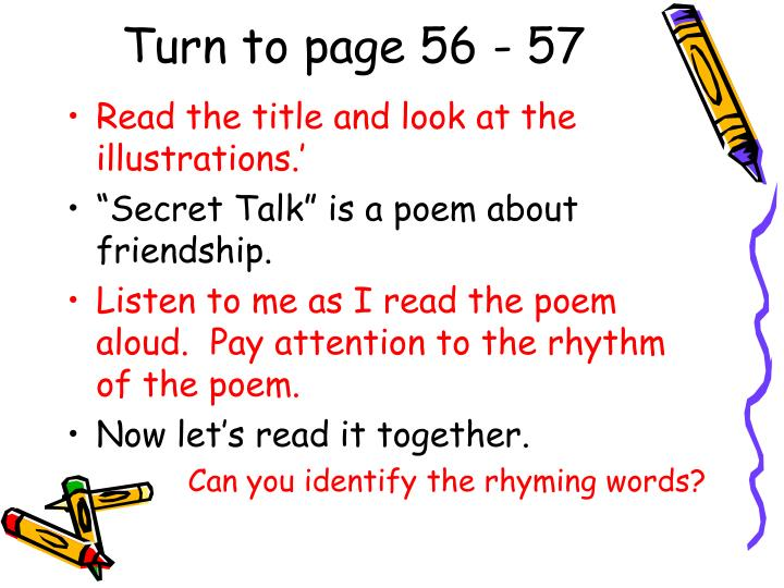 Turn to page 56 - 57