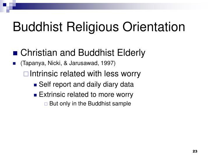 Buddhist Religious Orientation