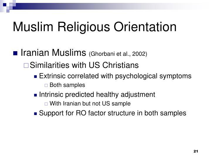 Muslim Religious Orientation