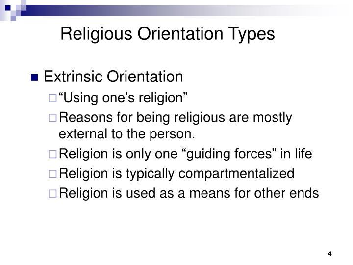 Religious Orientation Types