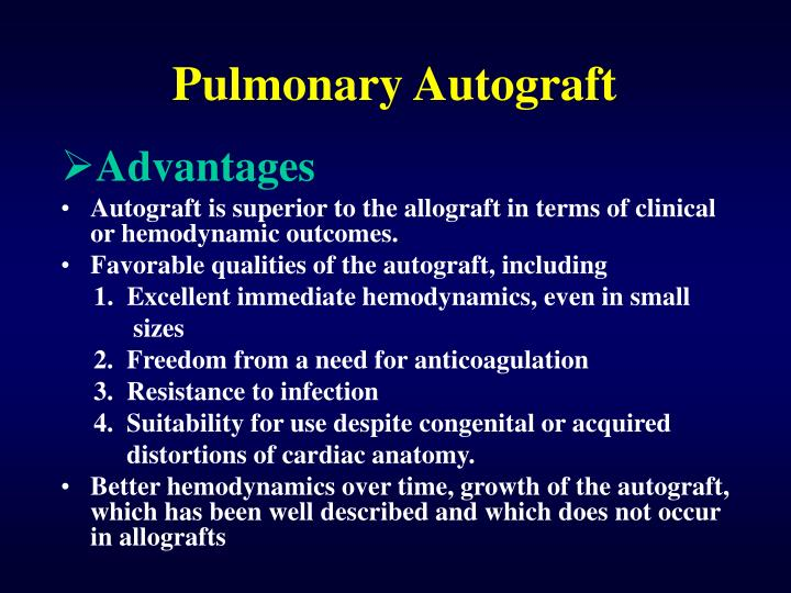 Pulmonary Autograft