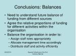conclusions balances