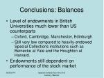 conclusions balances2