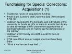 fundraising for special collections acquisitions 1