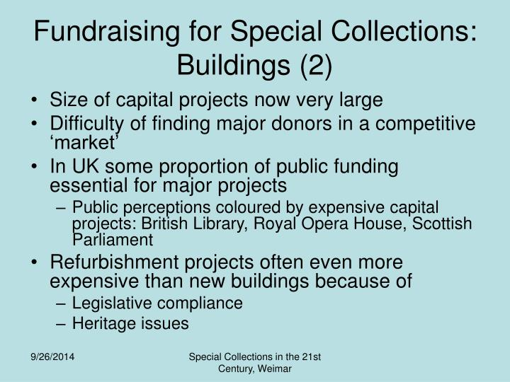 Fundraising for Special Collections: Buildings (2)