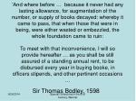 sir thomas bodley 1598