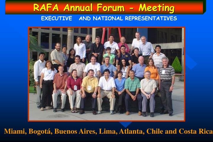 RAFA Annual Forum - Meeting