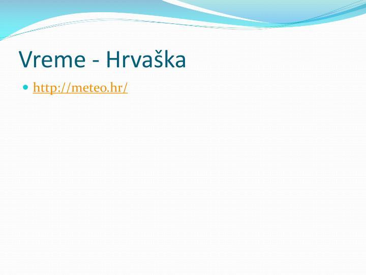 Vreme - Hrvaška