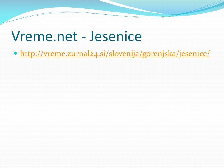 Vreme.net - Jesenice