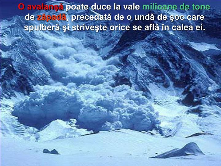 O avalanşă