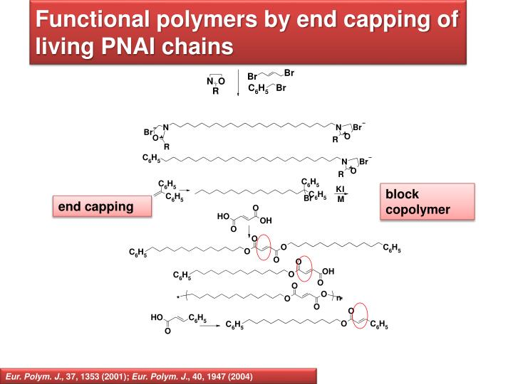 Functional polymers by end capping of living PNAI chains