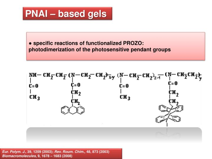 PNAI – based gels