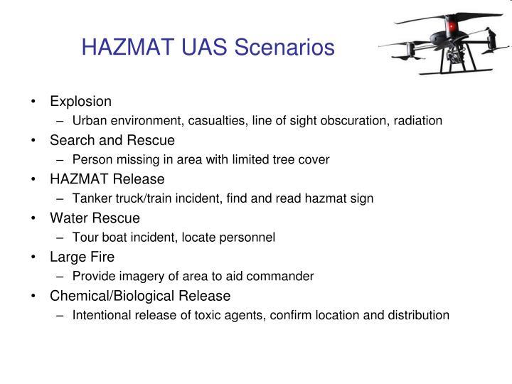 HAZMAT UAS Scenarios