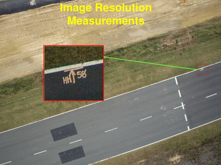 Image Resolution Measurements