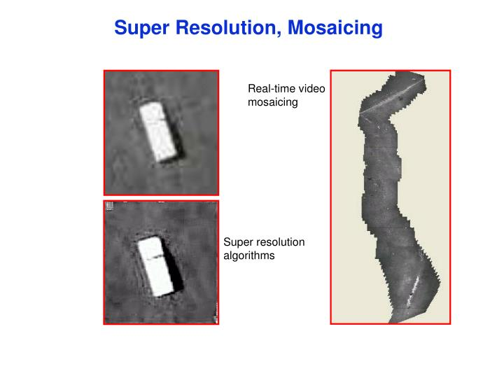 Super Resolution, Mosaicing