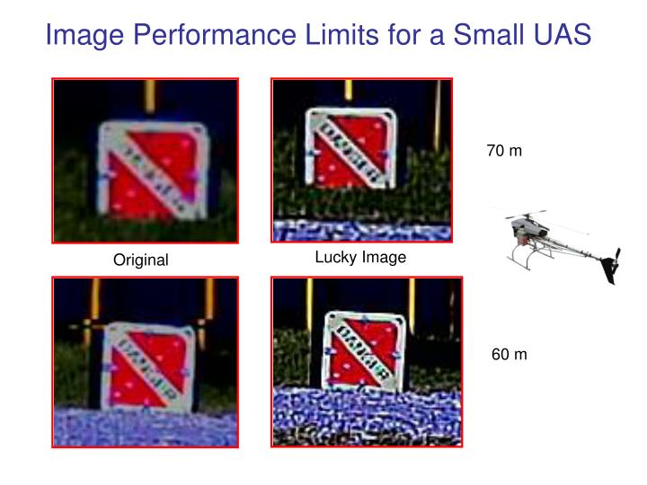 Image Performance Limits for a Small UAS