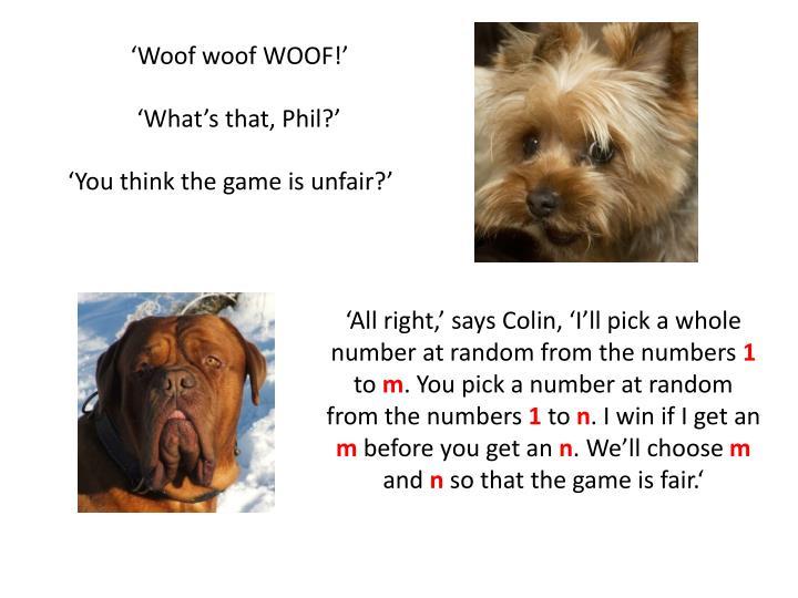 'Woof