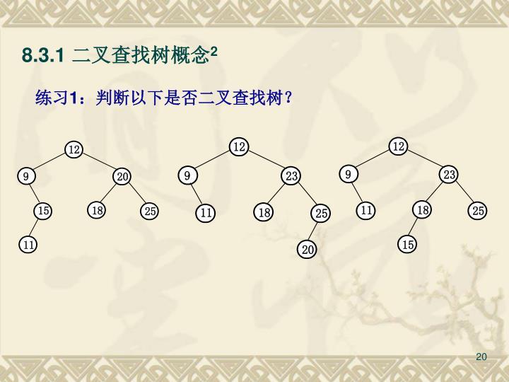 8.3.1 二叉查找树概念