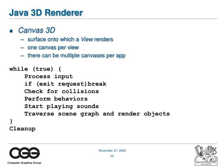 Java 3D Renderer