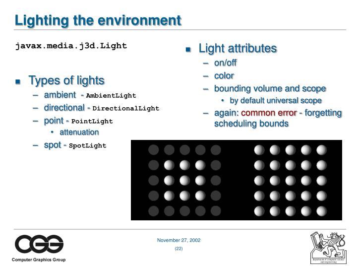 javax.media.j3d.Light