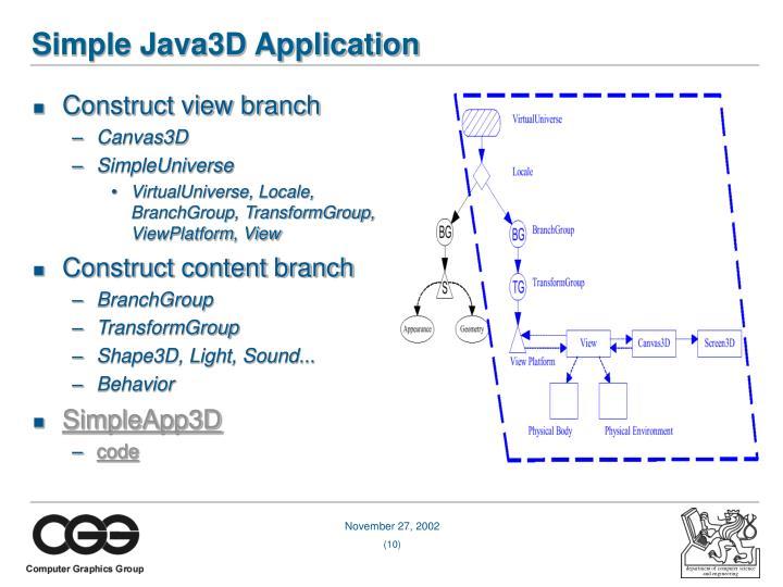 Simple Java3D Application