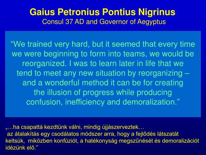 Gaius Petronius Pontius Nigrinus