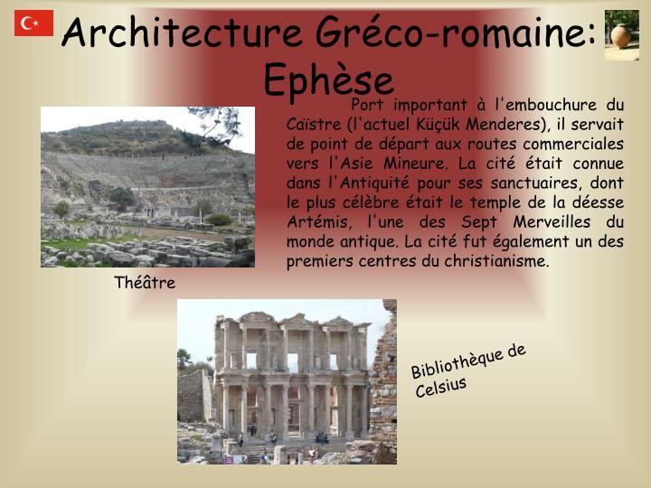 Architecture Gréco-romaine: Ephèse