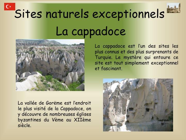 Sites naturels exceptionnels