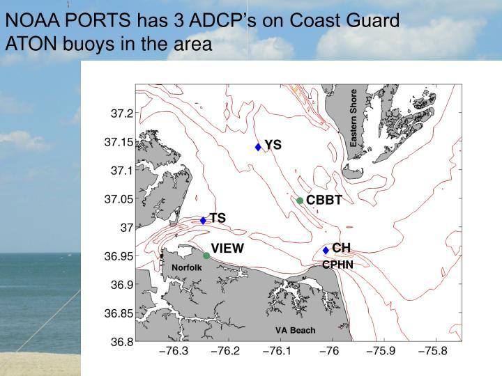NOAA PORTS has 3 ADCP's on Coast Guard ATON buoys in the area