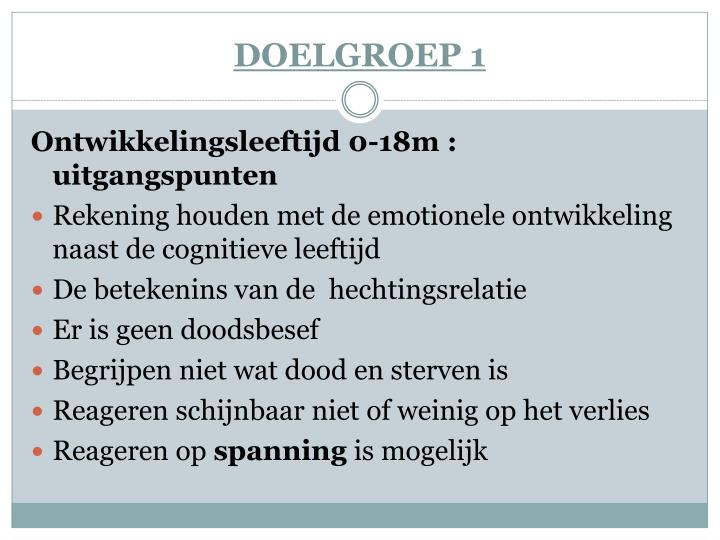 DOELGROEP 1
