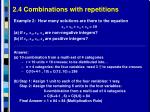 2 4 combinations with repetitions5