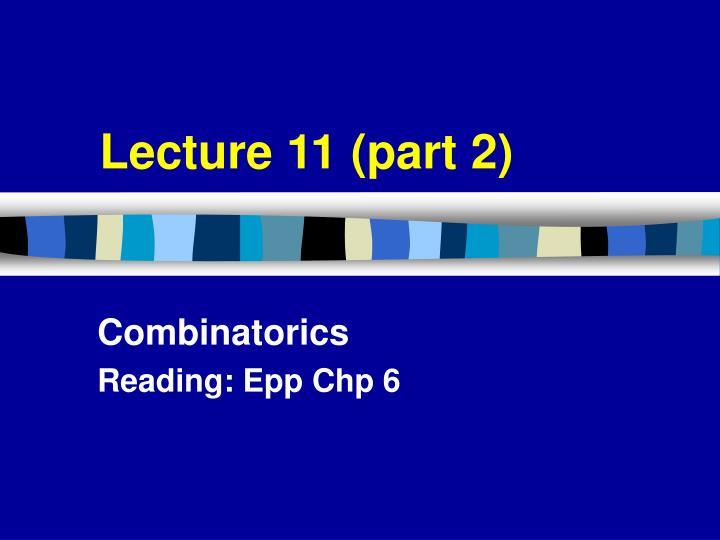 Lecture 11 (part 2)