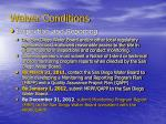 waiver conditions5