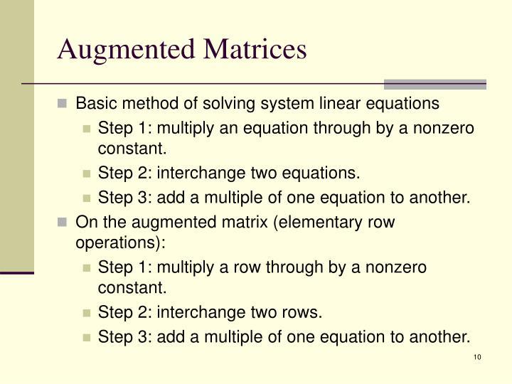 Augmented Matrices