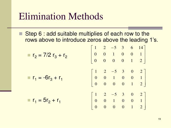 Elimination Methods