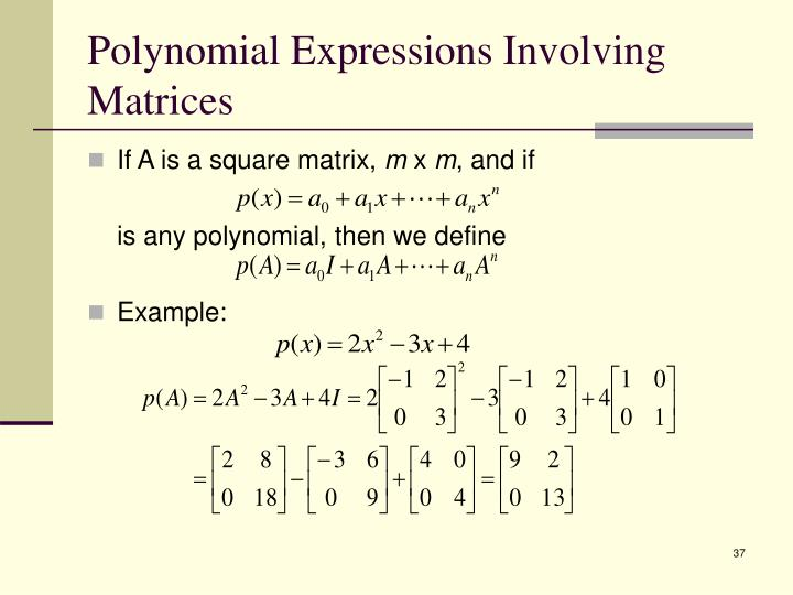 Polynomial Expressions Involving Matrices