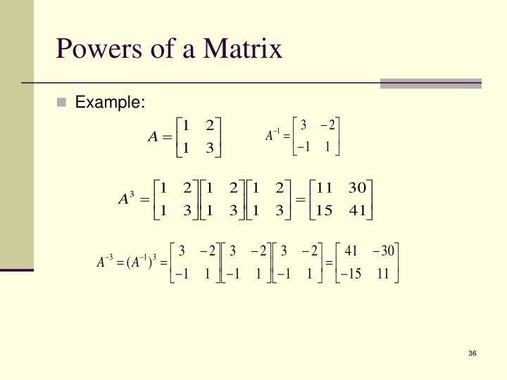 Powers of a Matrix