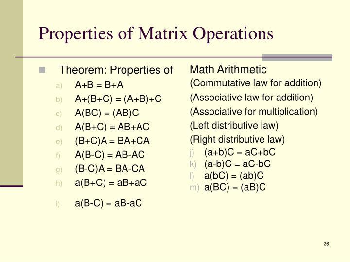 Theorem: Properties of