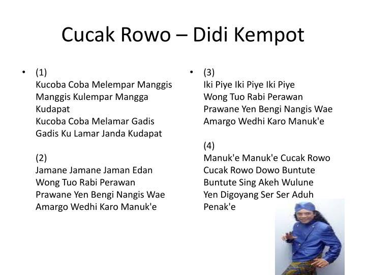 Cucak Rowo – Didi Kempot