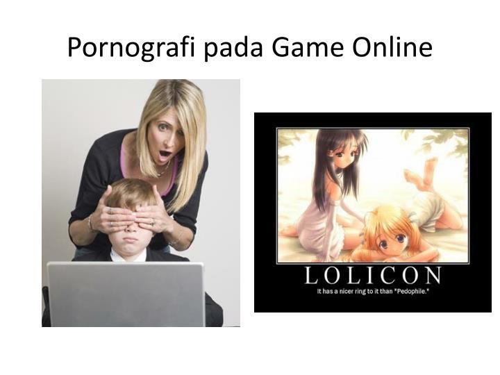 Pornografi pada Game Online