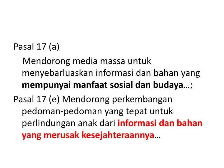 Pasal 17 (a)