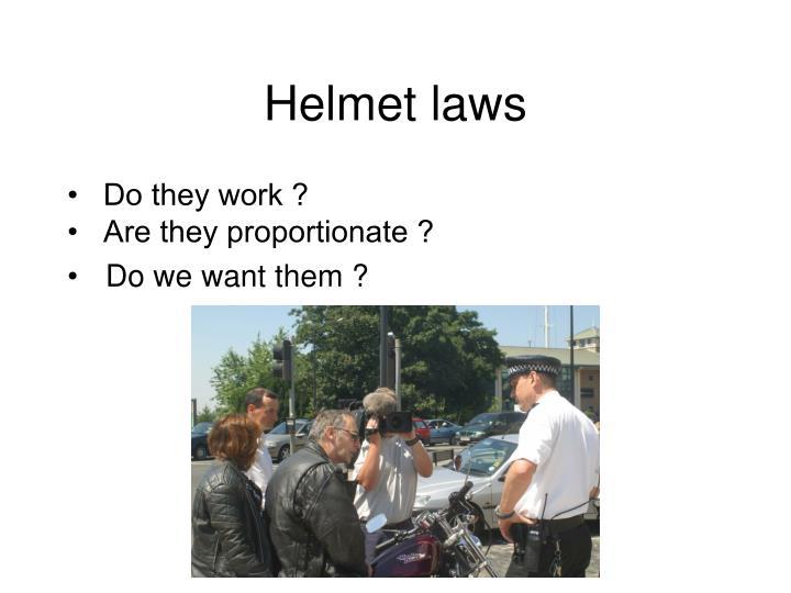 Helmet laws